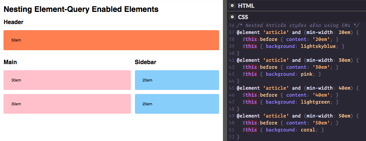 How Style Scoping Works with Element Queries