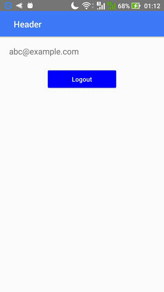 Simple login system using React Native, Firebase and