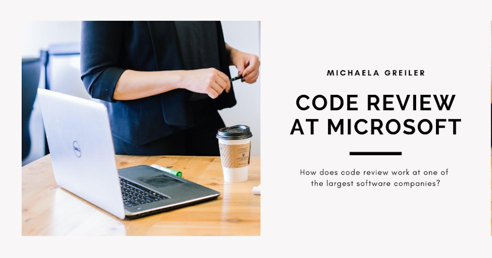 How code reviews work at Microsoft