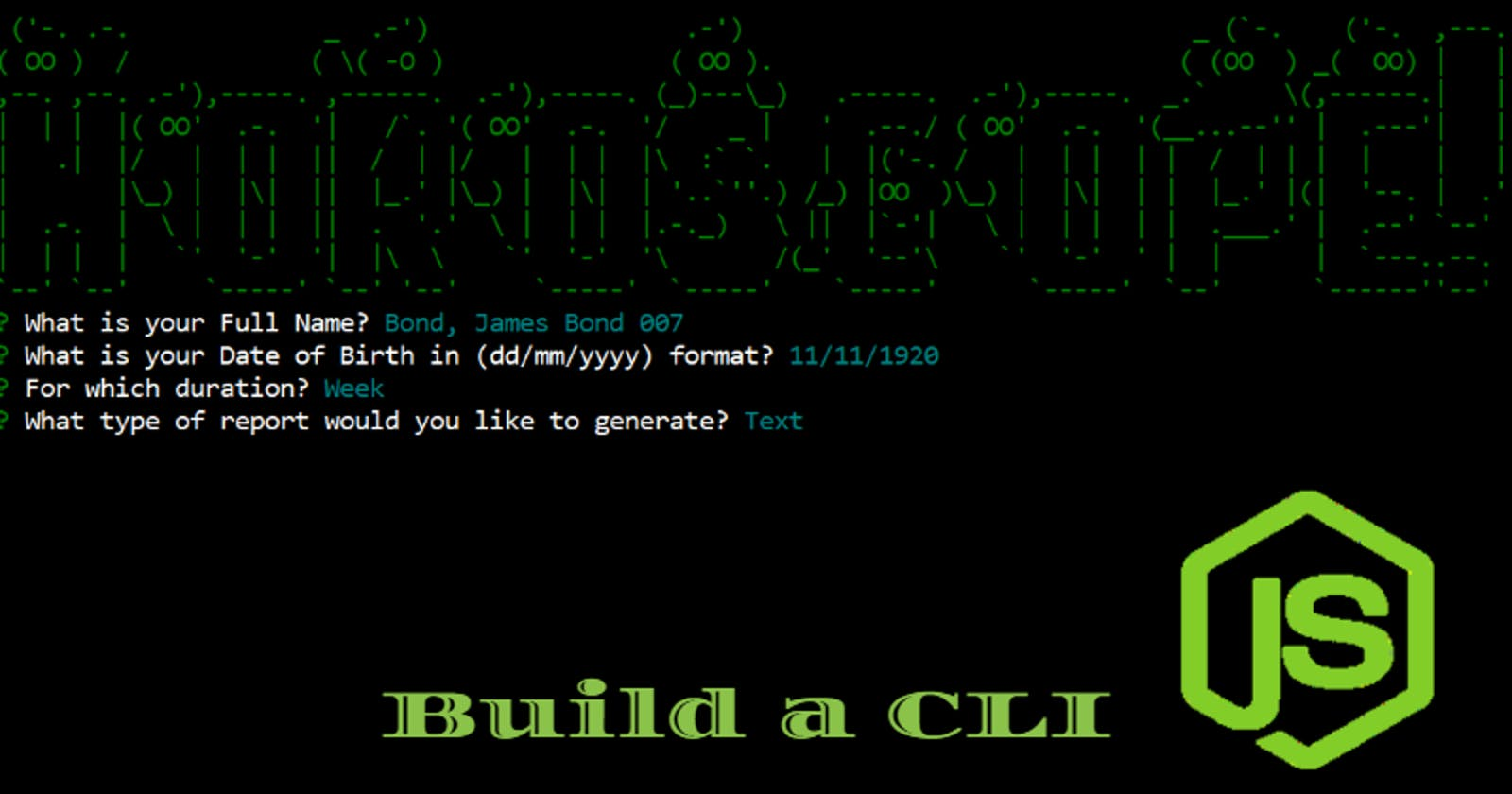 A step by step guide to your first CLI(Command Line Interface) app using Node.js