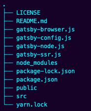 starter directory tree