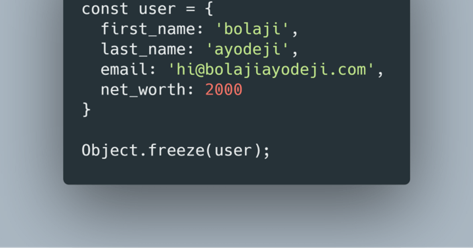The differences between Object.freeze() vs Const in JavaScript