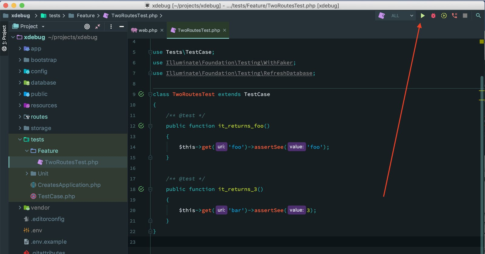 On-demand Xdebug with PHPUnit and Laravel inPhpStorm