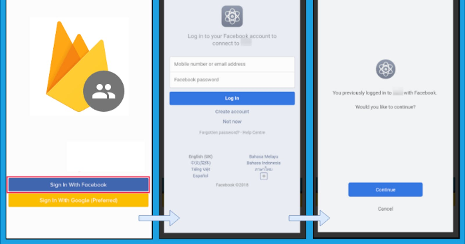 Firebase Auth using Facebook Log-In in Expo, React Native