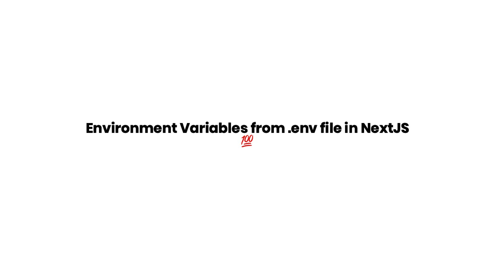 Environment Variables from .env file in NextJS