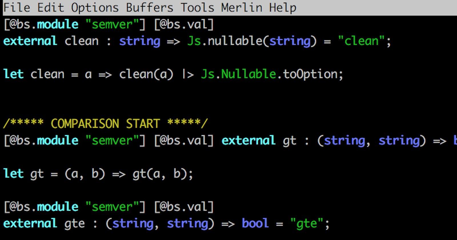 ReasonML: Create Bindings for NPM Package
