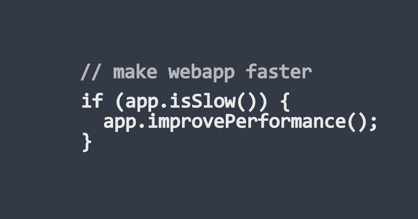 What makes your web app faster? (part 3, Client App)
