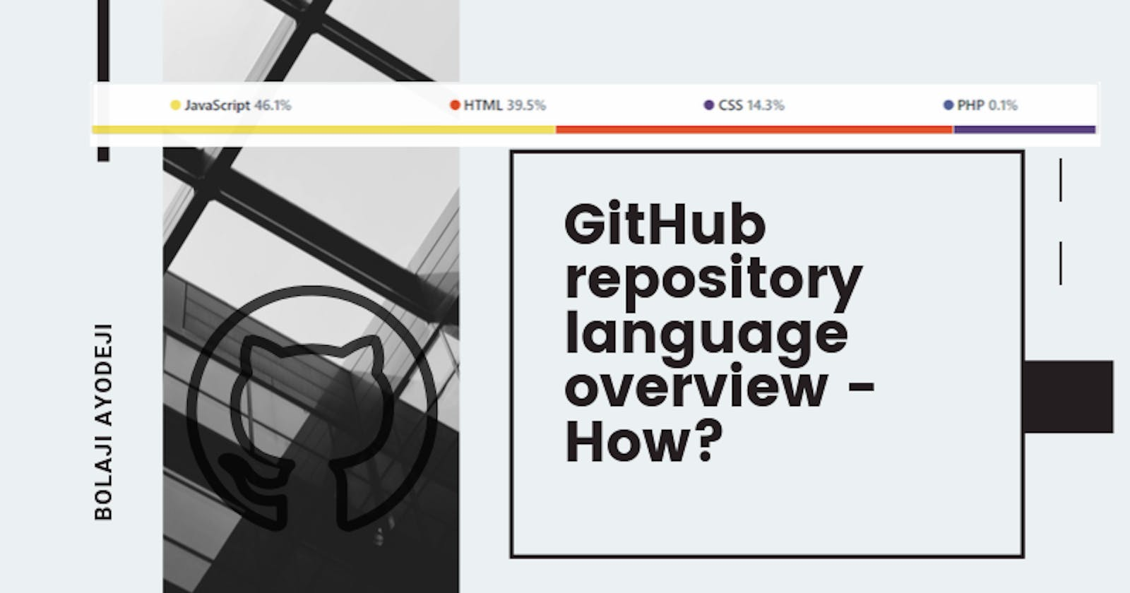 GitHub repository language overview - How?
