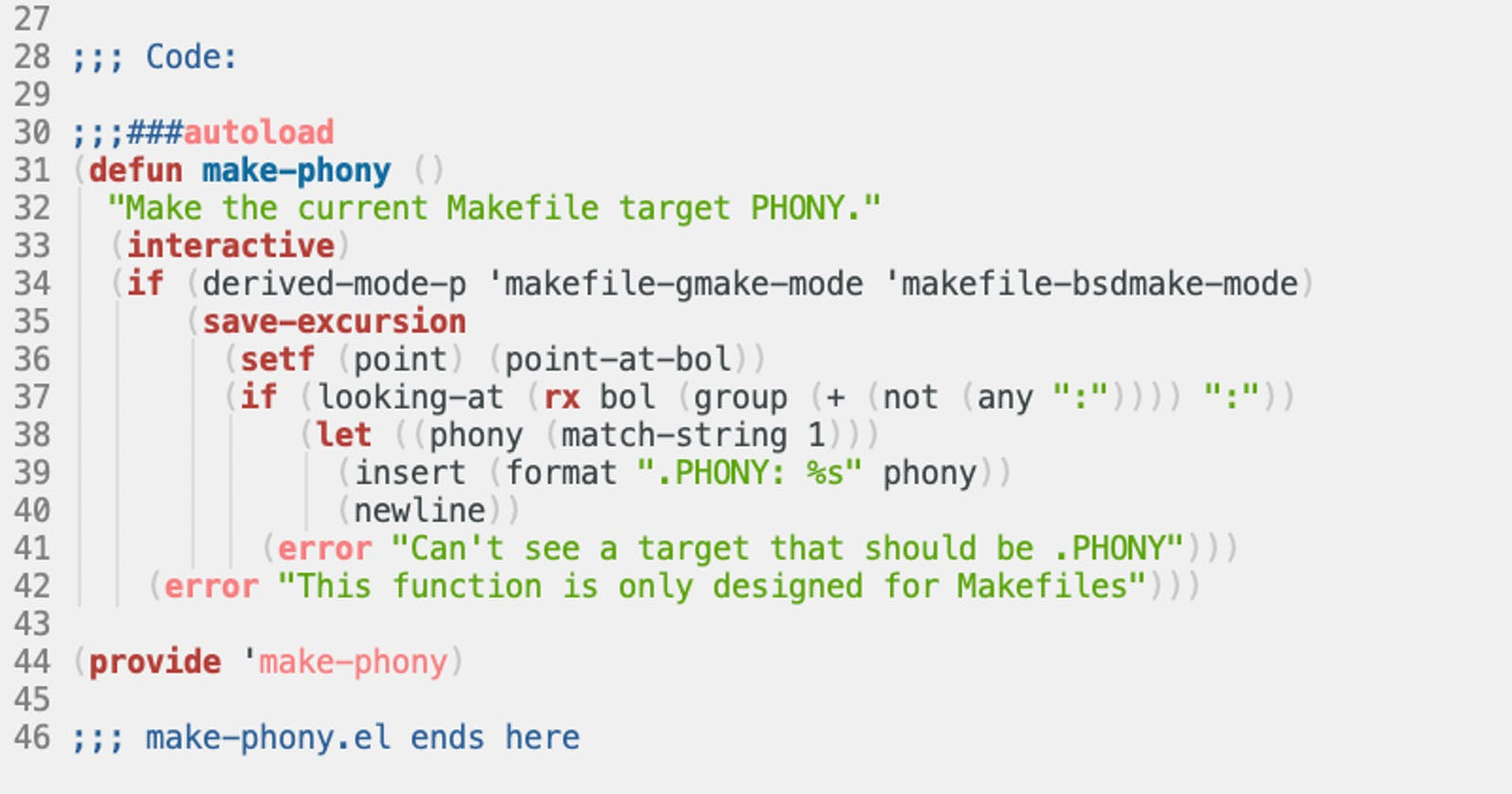 Being phony, and Lispy regular expressions