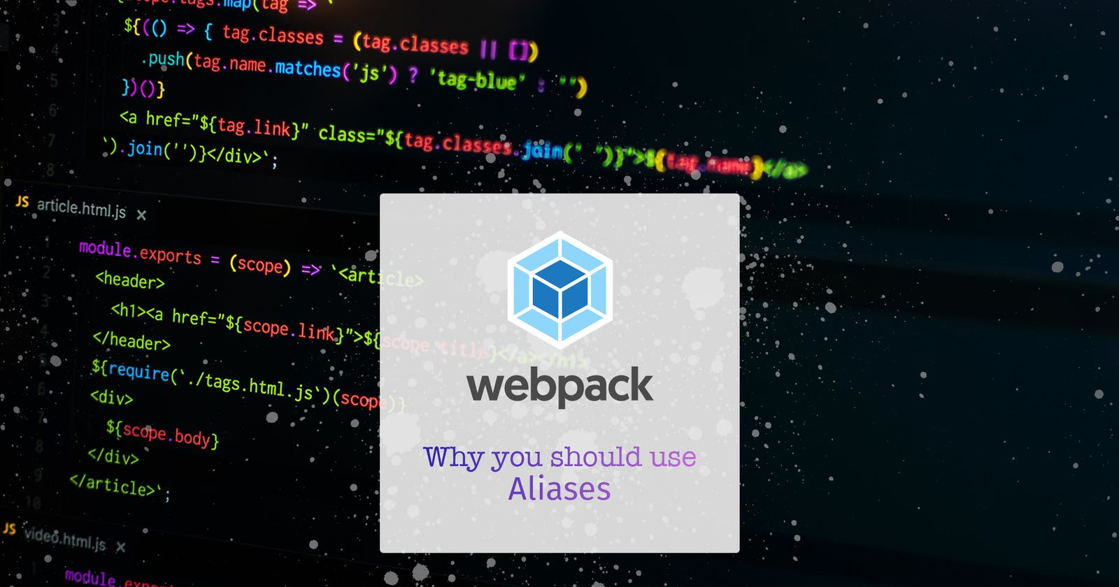 Why aren't you using Aliases in webpack config?