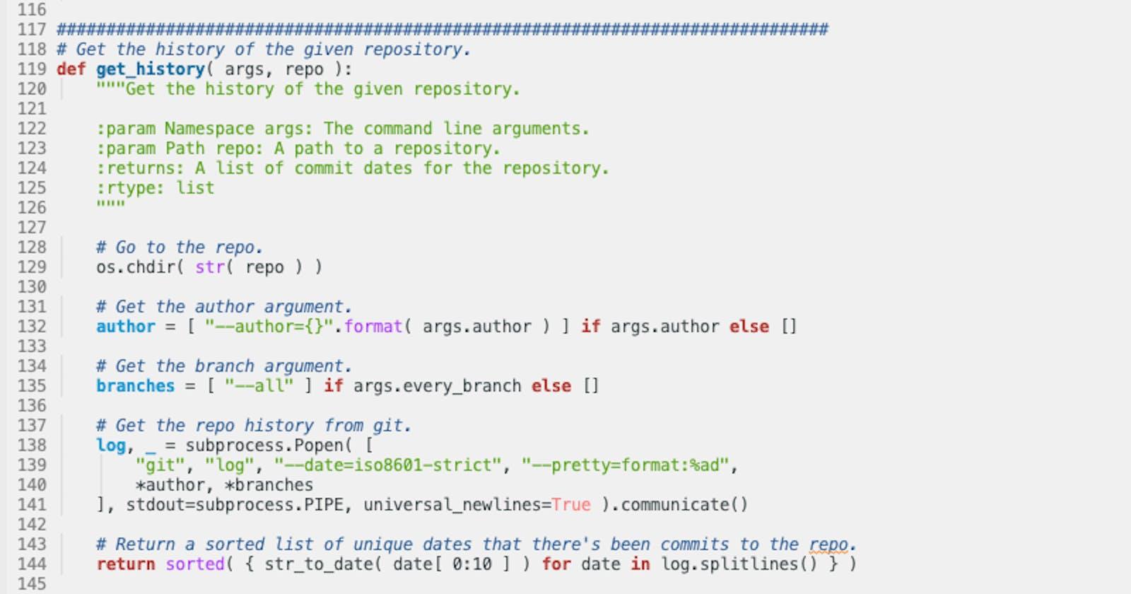 git2gantt -- Simple tool to visualise coding runs