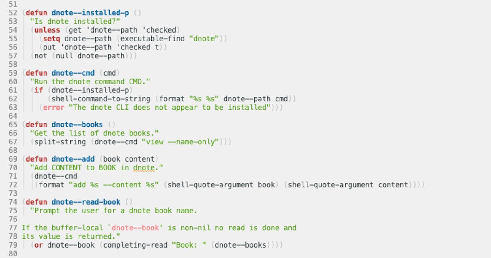 dnote.el - A wrapper for the dnote CLI