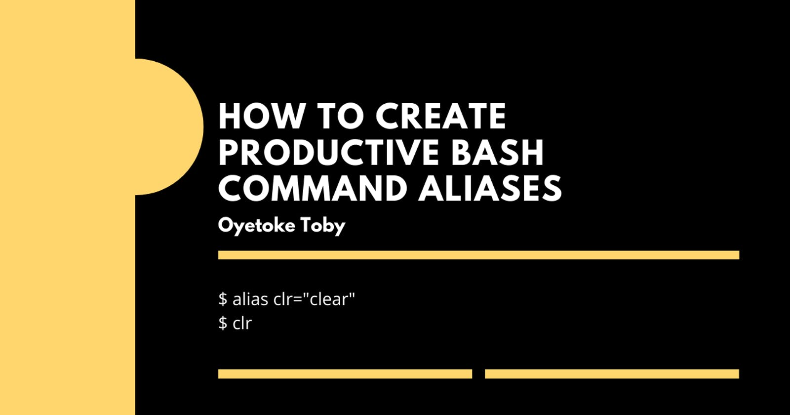 How to Create Productive Bash Command Aliases