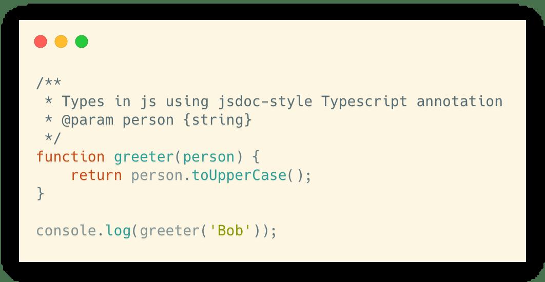 Typescript annotations in .js