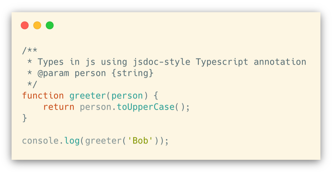 Typescript annotations in .js