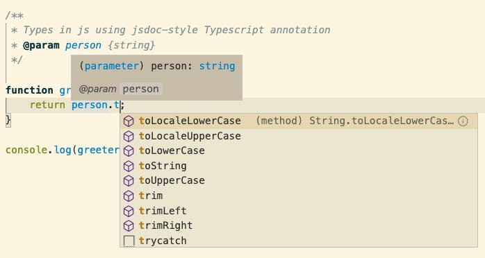 Type hints in vscode while using ts annotations in .js