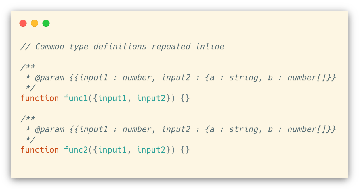 Repeating inline