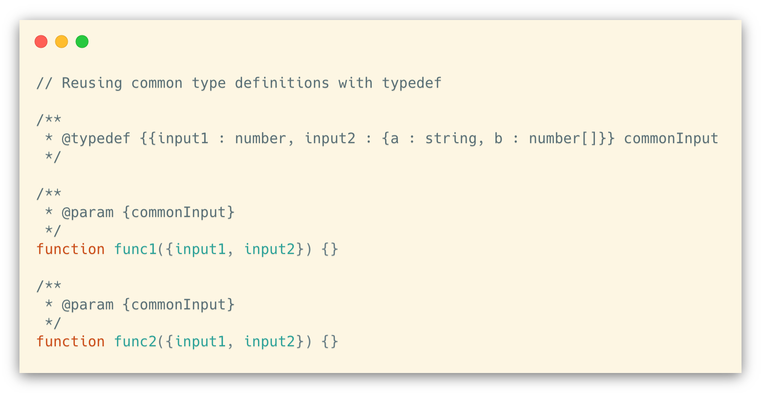 Using typedef