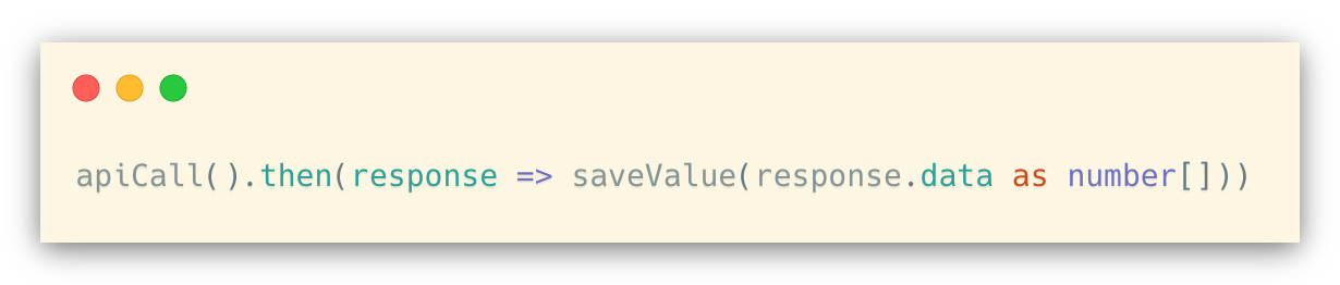 Type assertion + inference with .ts