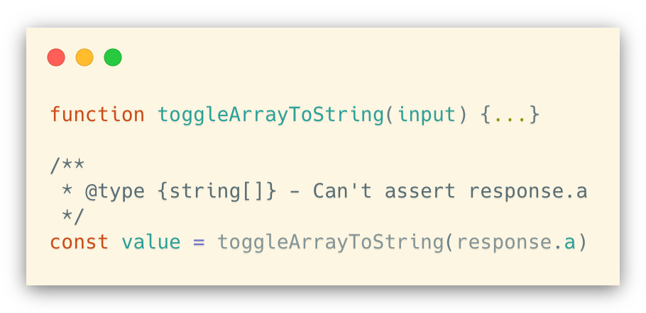 Can't use type assertion in .js