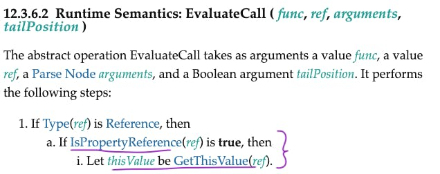EvaluateCall- if IsPropertyReference, set this to base object