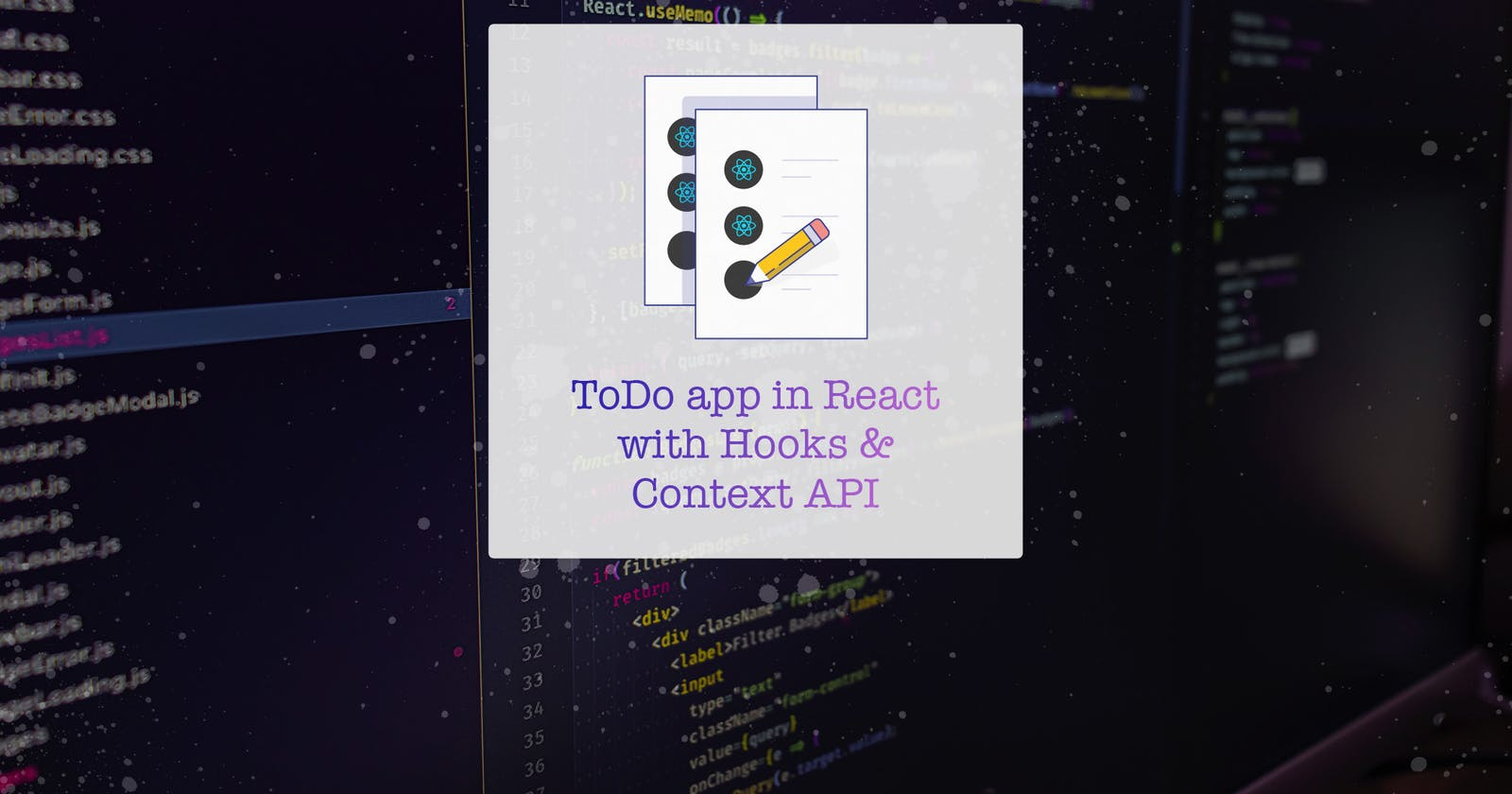ToDo app in React with Hooks & Context API