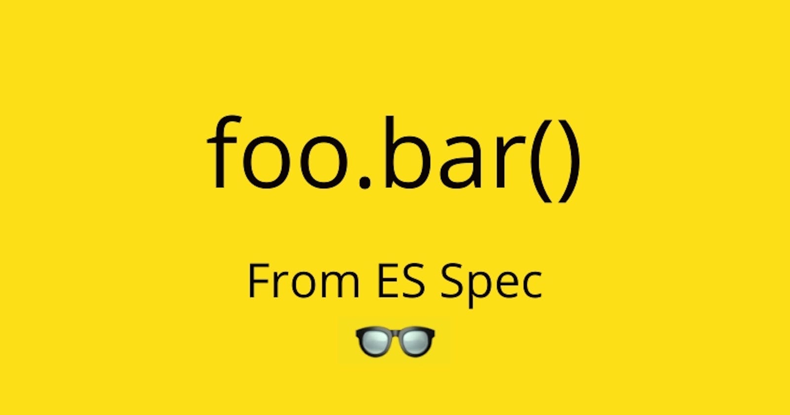 What is `this` inside foo.bar()?