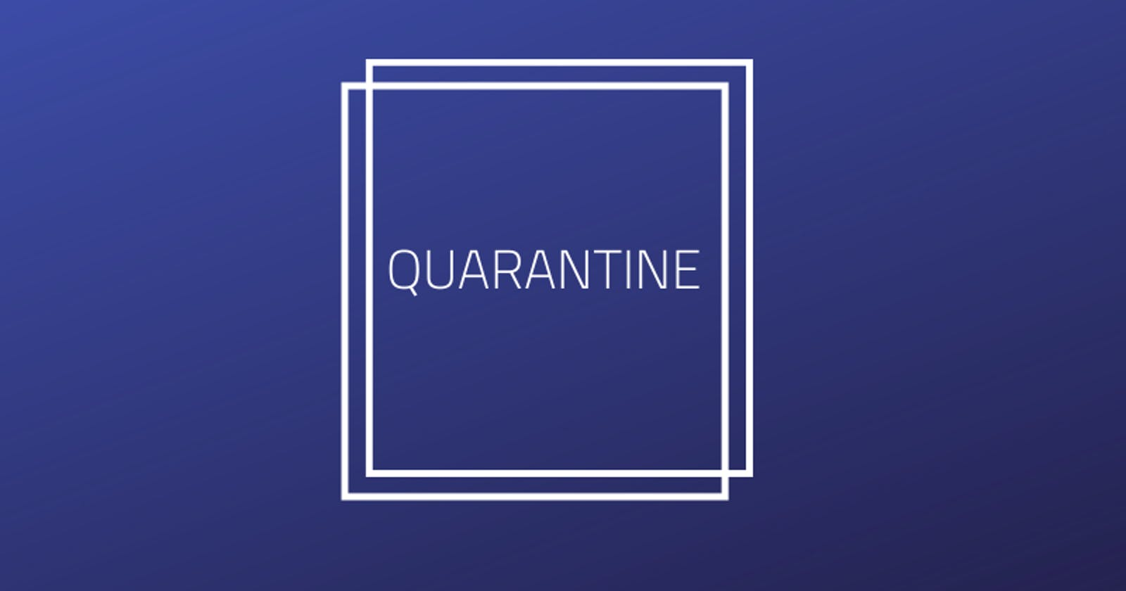 Thoughts about quarantine and how I am handling it