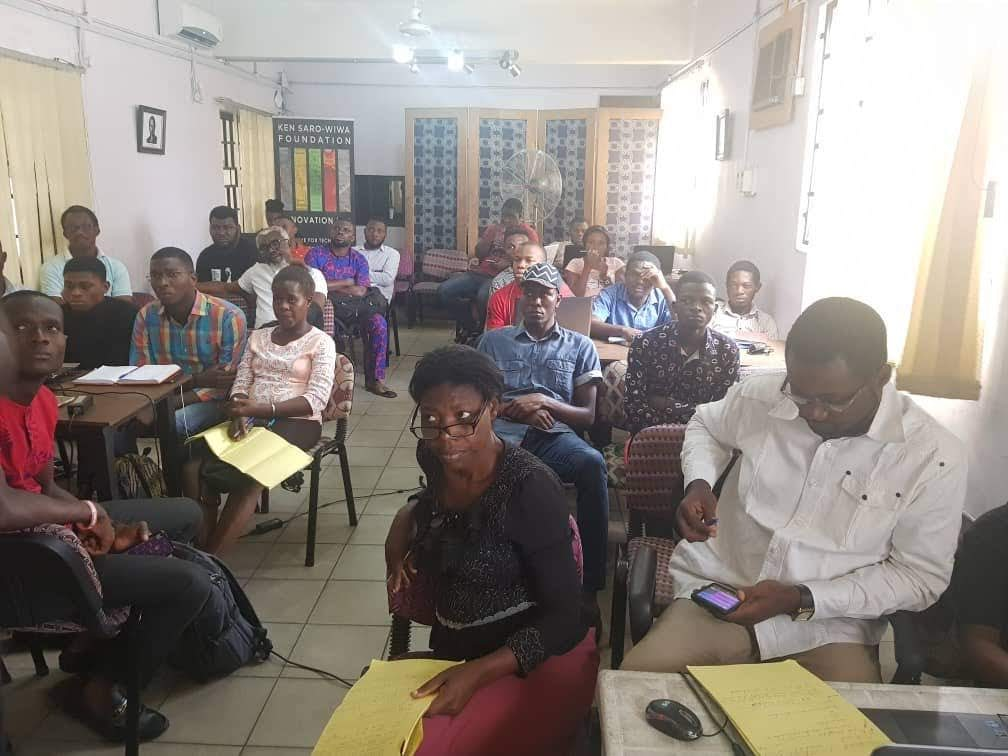 People learning and being focused in a room