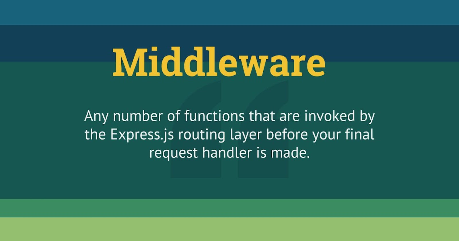 Middlewares in Express JS