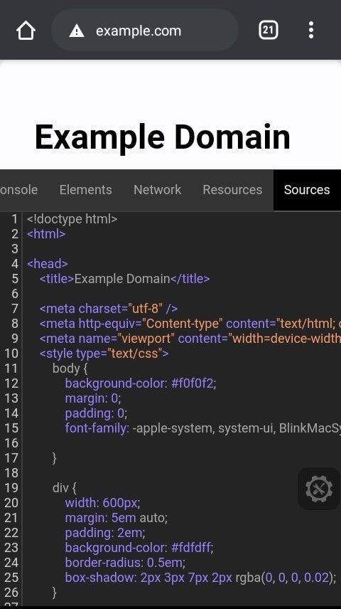 Dev Tool On Android - Eruda