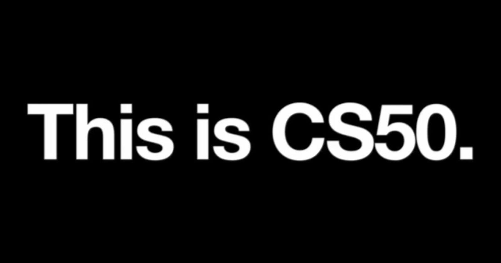 I took CS50, and you can too