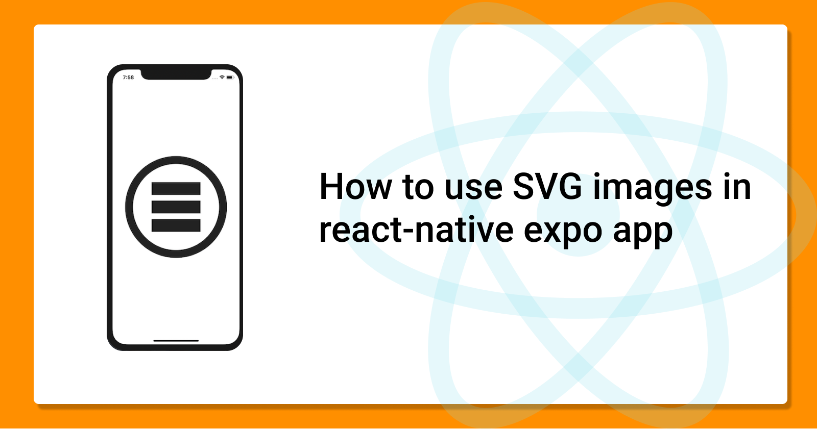 How To Use Svg Images In React Native Expo App