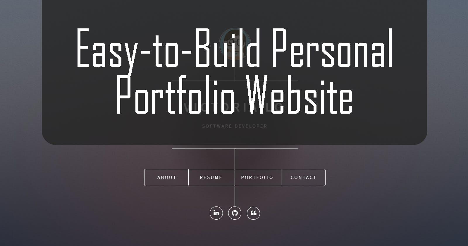How to Build your Personal Portfolio Website