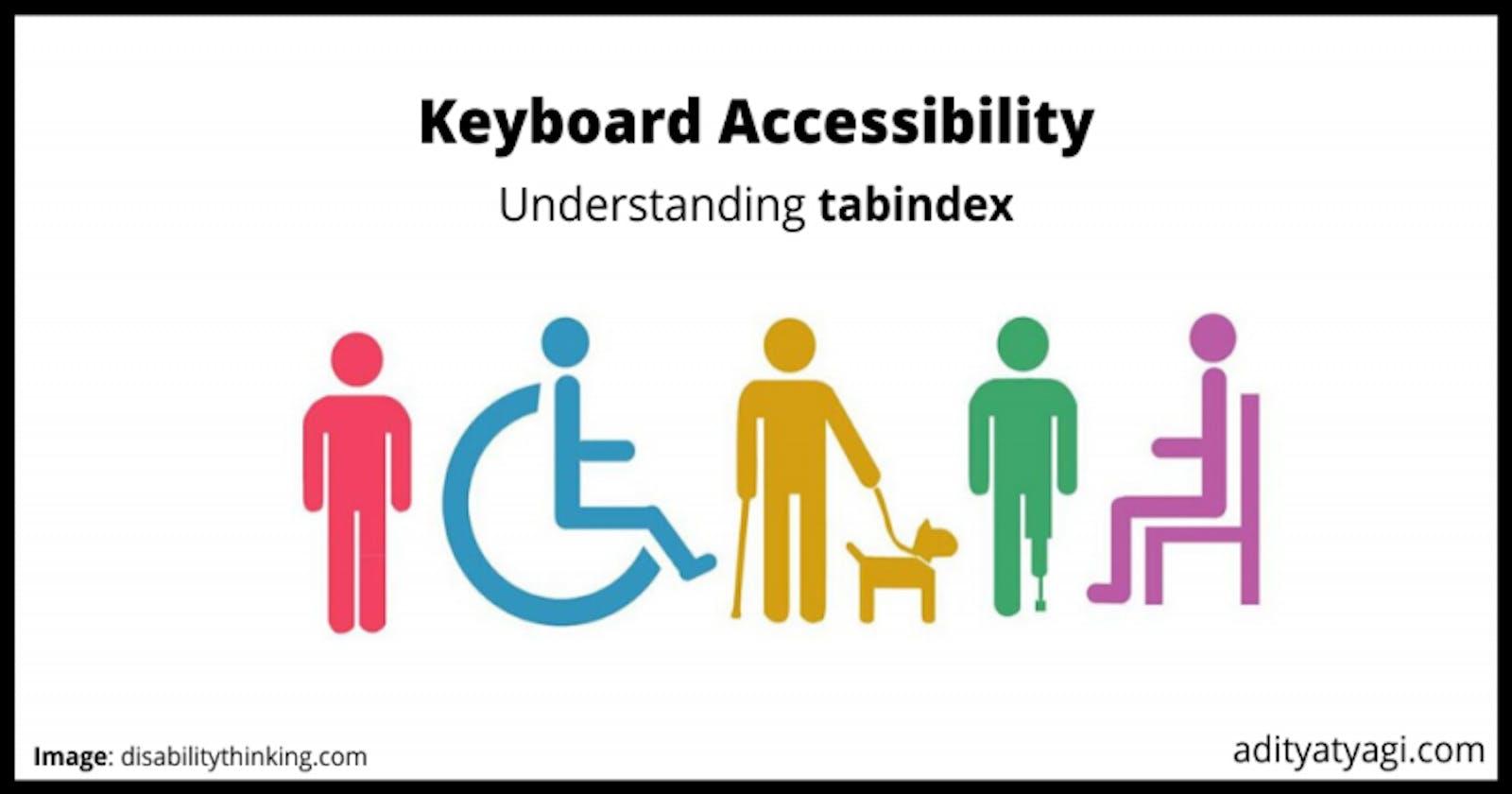 Understanding tabindex – keyboard accessibility