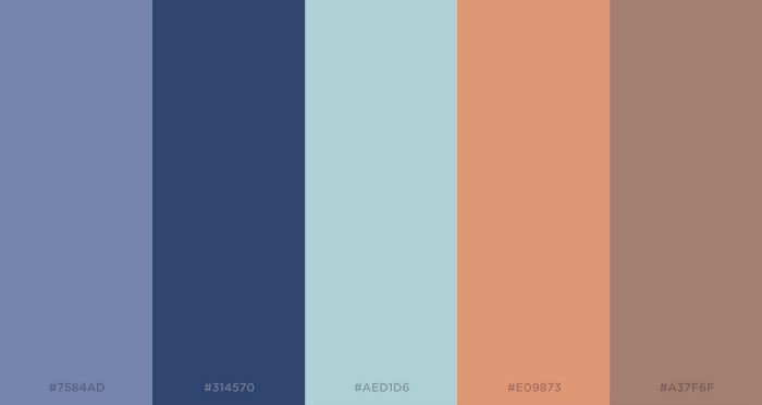 Sample color palette