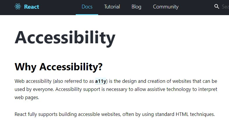 From - https://reactjs.org/docs/accessibility.html