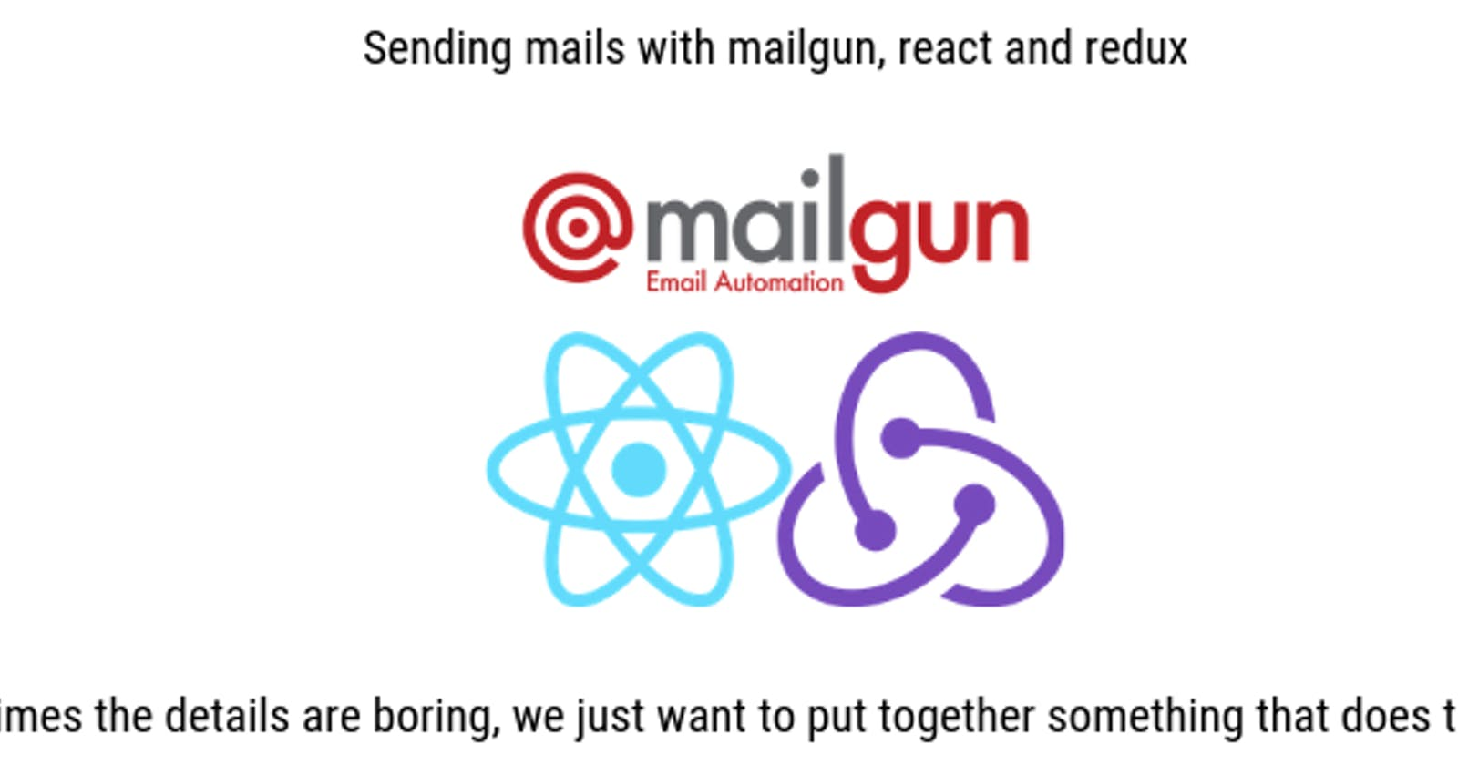 Send emails with React/Redux contact form using Mailgun Part2