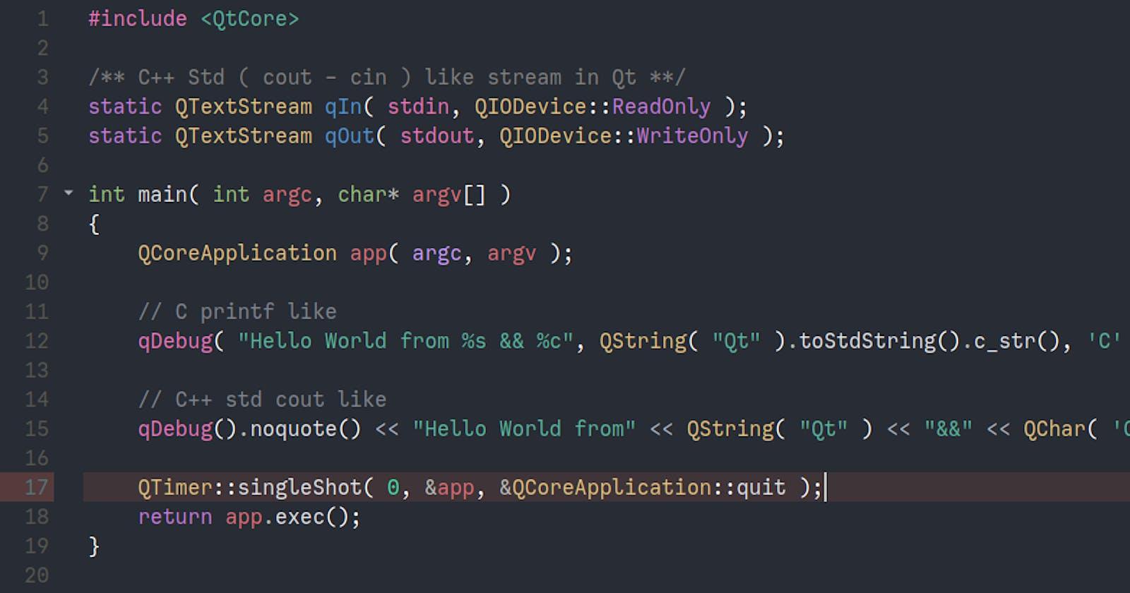 OneDark Pro QtCreator Syntax color Theme
