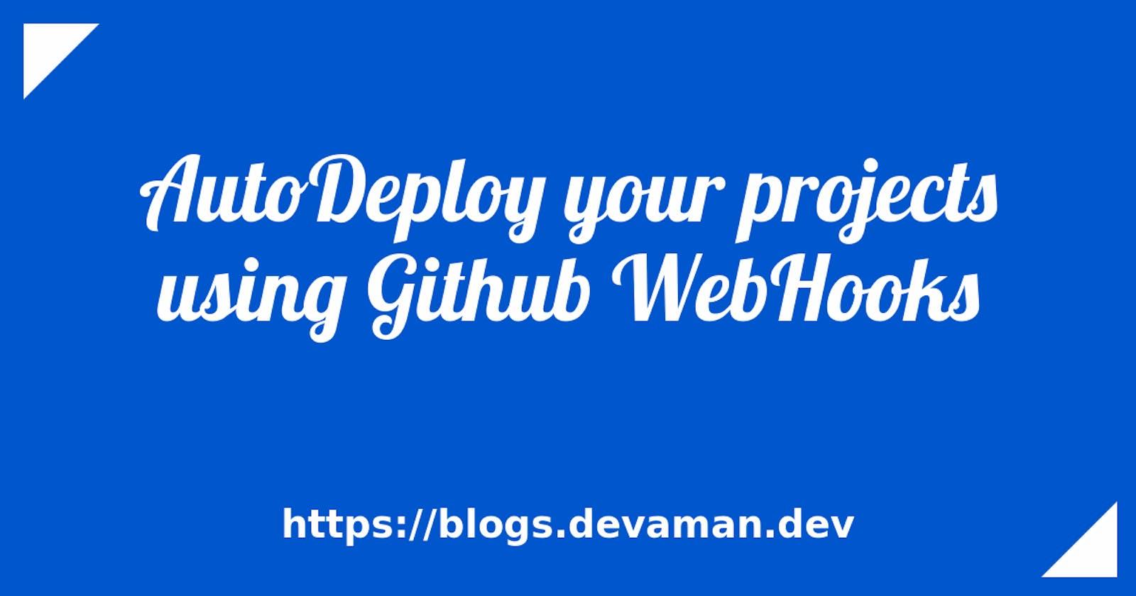 AutoDeploy your projects using Github WebHooks