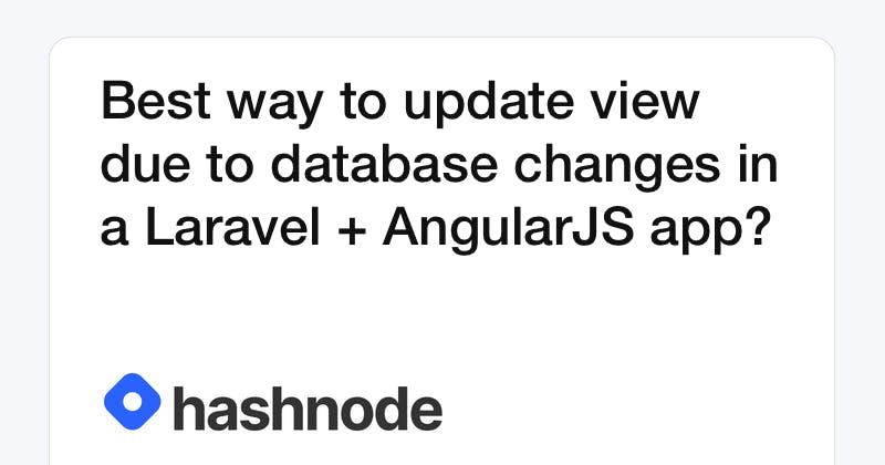 Best way to update view due to database changes in a