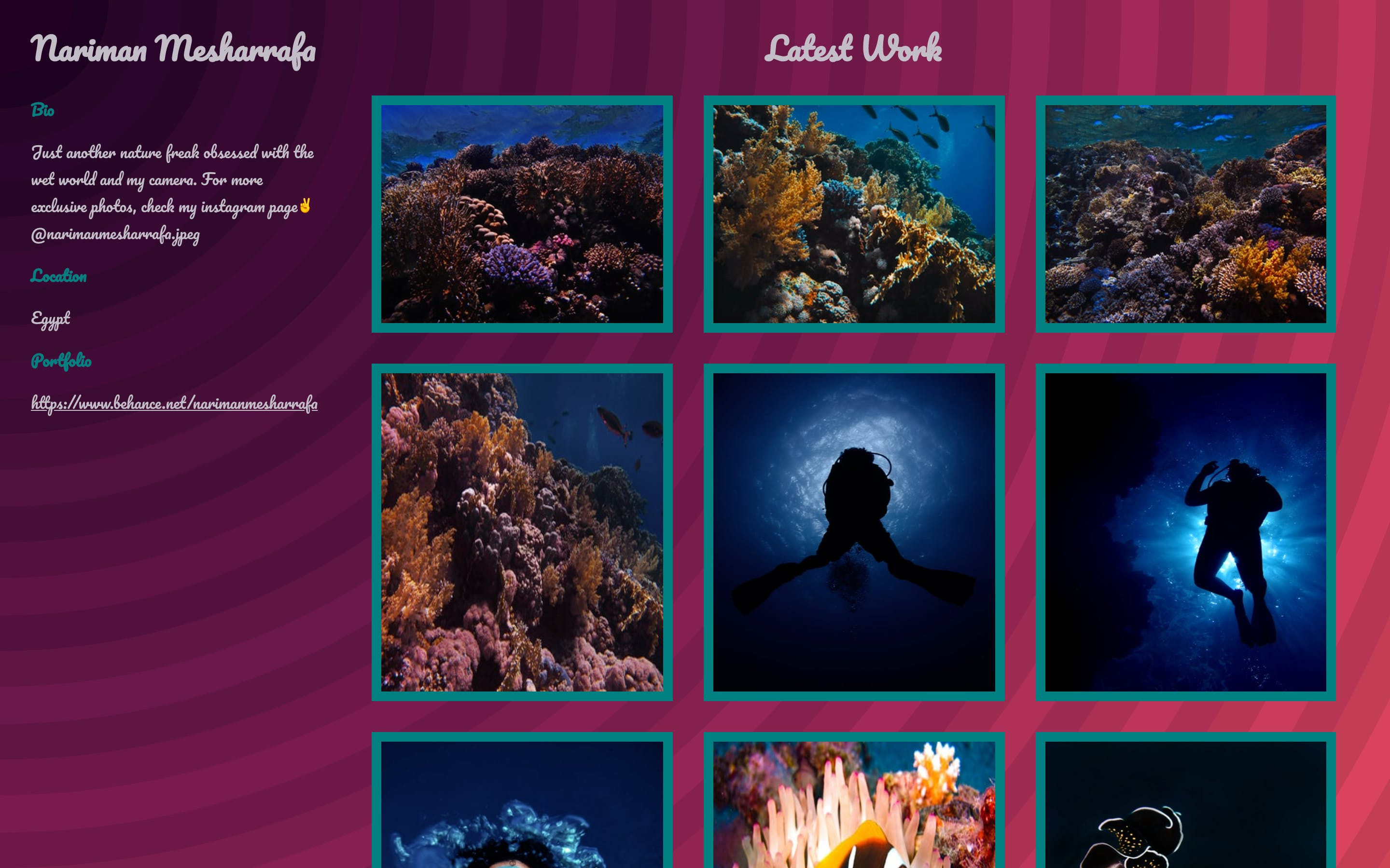 Inspiration of the day preview for photographer's page