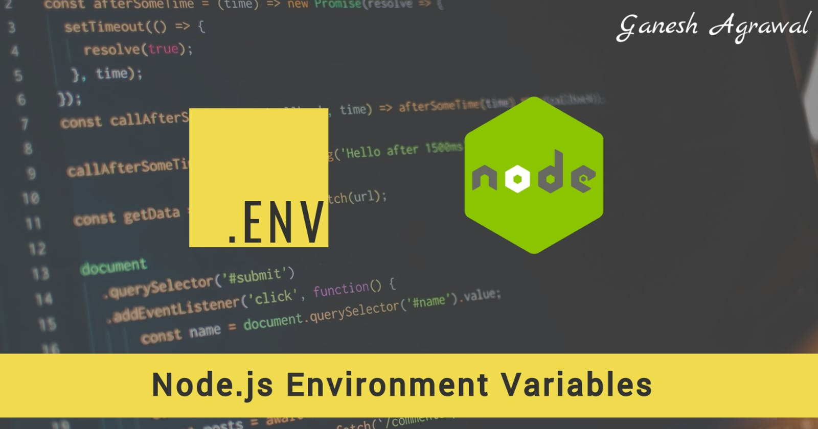 How to use environment variables in Node.js application