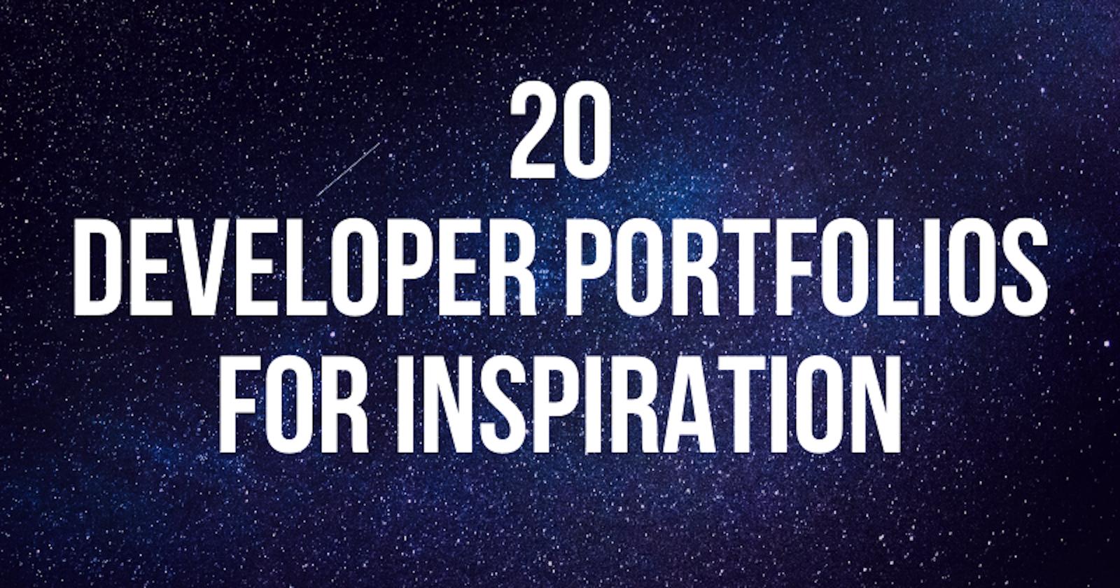 20 Developer Portfolios for Inspiration