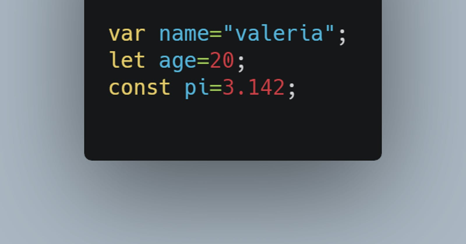 The difference between let, var and const...Javascript