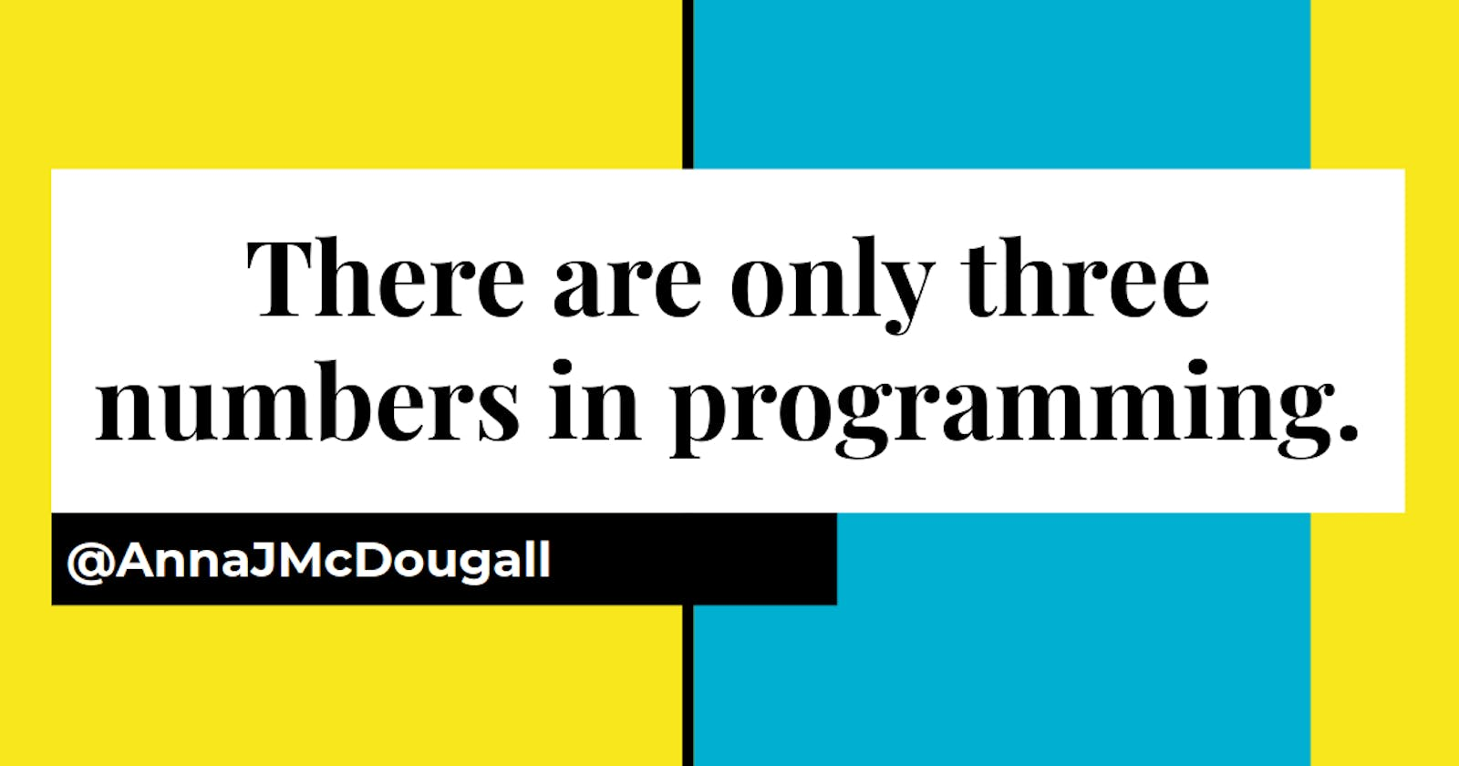 """""""There are only three numbers in programming: 0, 1, and infinity"""": A beginner gets feedback from a Lead Engineer!"""