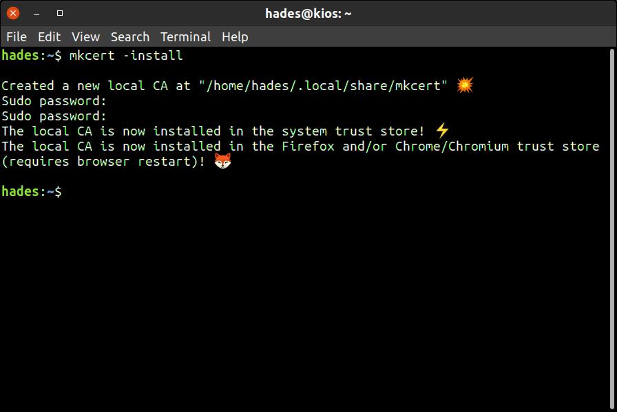 Setup mkcert on your machine