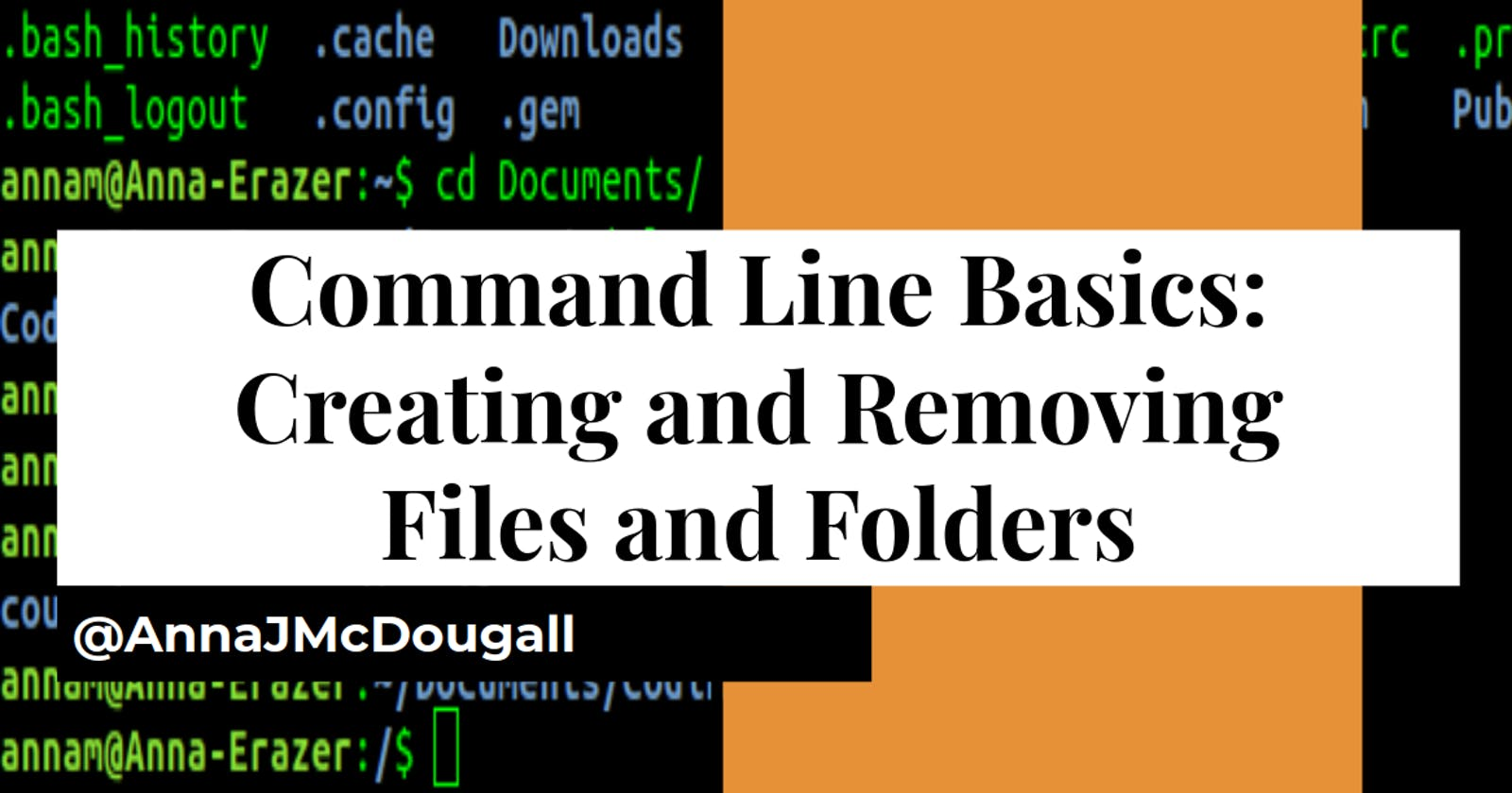 Command Line Basics: Creating and Removing Files and Folders (aka Directories)