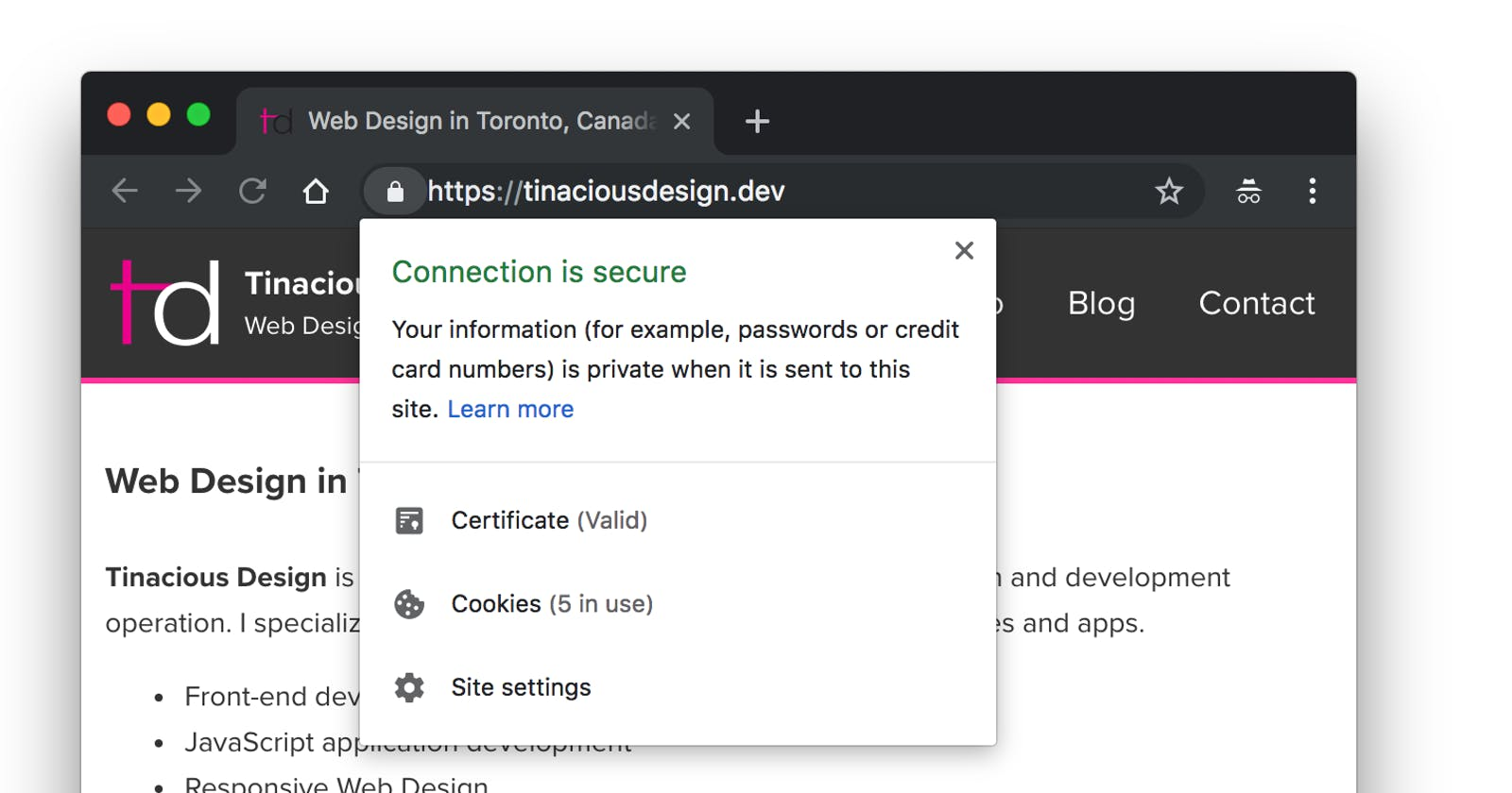 Using an SSL certificate on Vagrant for local development in Google Chrome