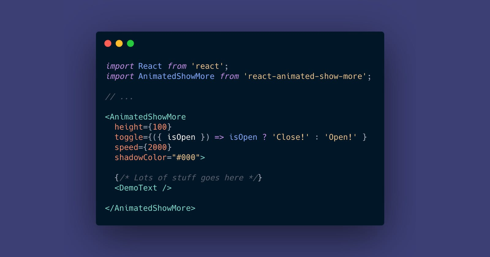 Animated Show More toggle in React